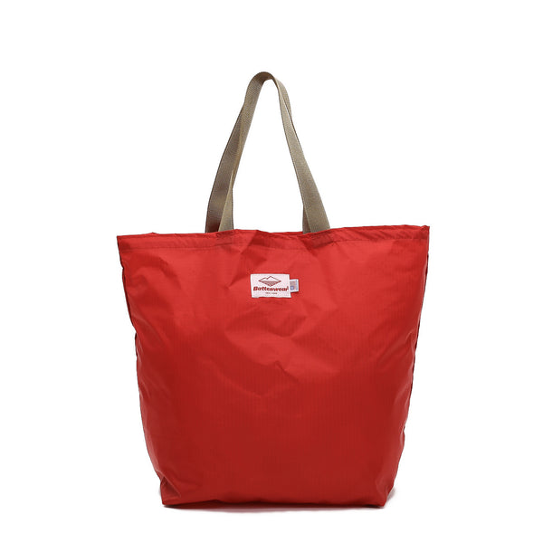 Packable Tote, Red/Coyote Brown