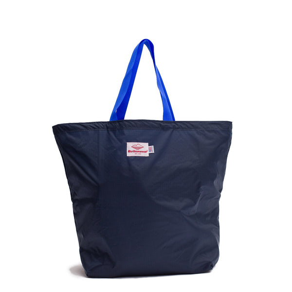 Oi Polloi Exclusive Packable Tote, Navy/Royal
