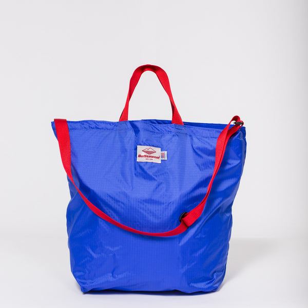 Packable Tote, Royal/Red