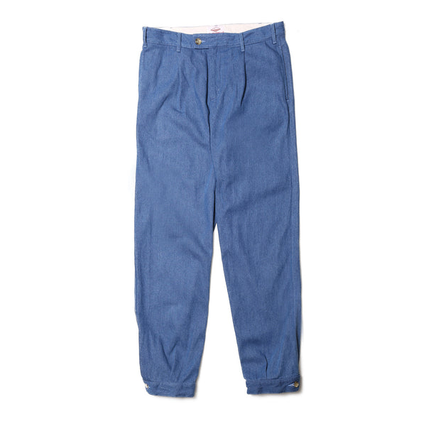 Pleated Woodsman Pants, Stonewashed Indigo