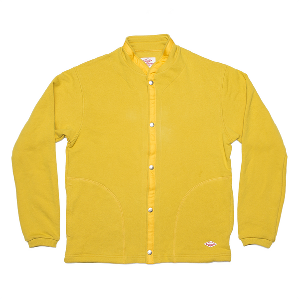 Sweat Cardigan, Mustard French Terry