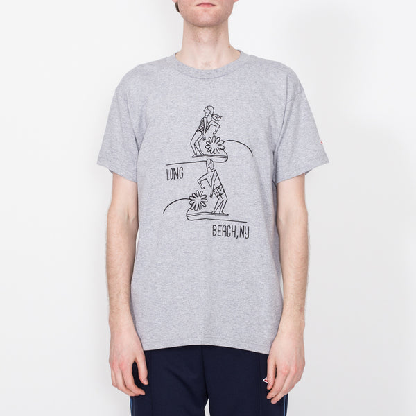 Long Beach Hang Five Tee, Heather Grey
