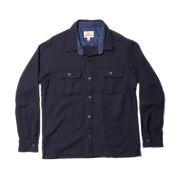 Trail Shirt, Navy Wool
