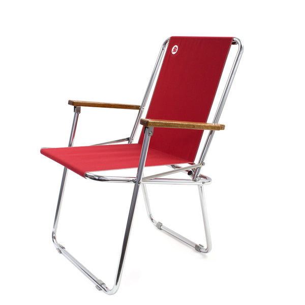 Zip Dee Fabric Folding Chair, Red
