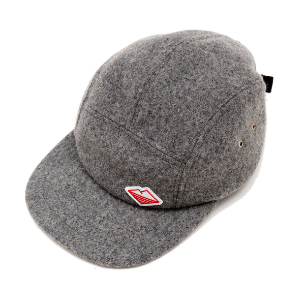 Travel Cap, Medium Grey Melton Wool
