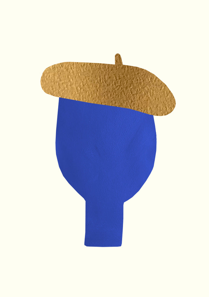 A3 Man With Golden Hat, Blue
