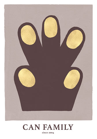 Hand/Paw poster, aubergine