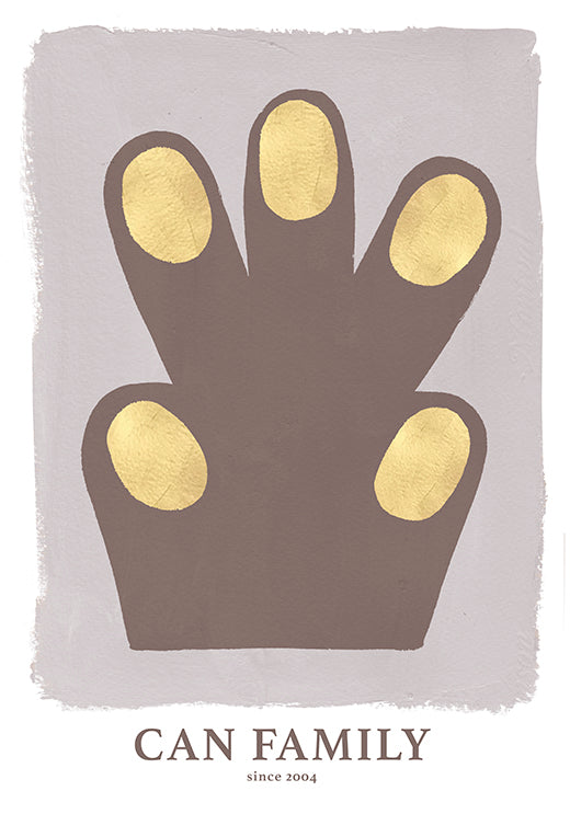 Hand/Paw poster Brown 50 x 70