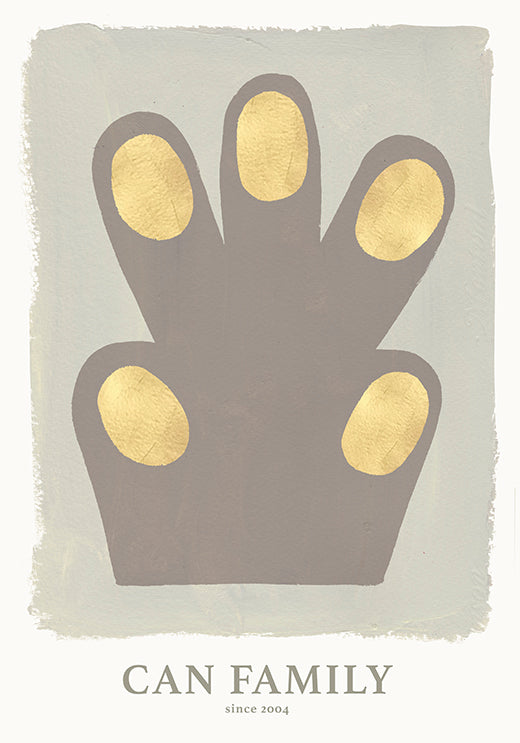 Hand/Paw poster Green 50 x 70