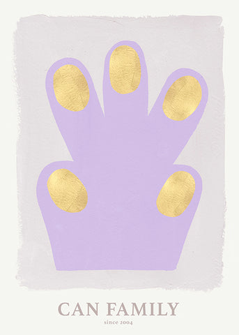Hand/Paw poster purple 70 x 100