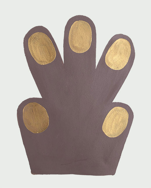 Small Hand / Paw, chocolate