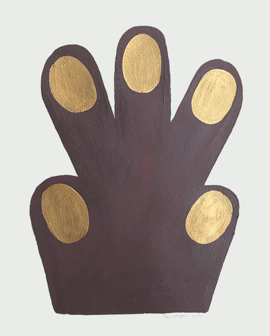Small Hand / Paw, Brown