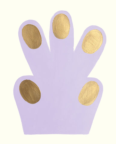 Small Hand / Paw, purple