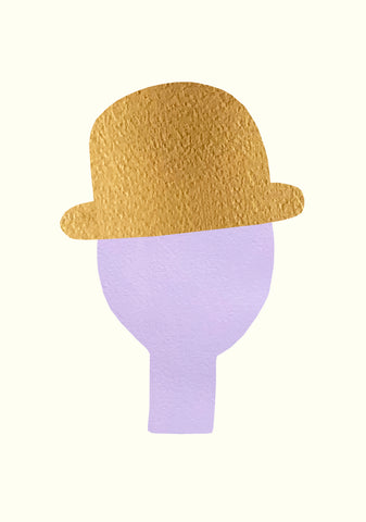 Man With Golden Hat, Purple