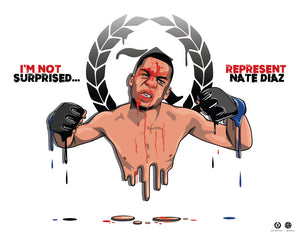 Nate Diaz 'Represent X Murked' Drip Poster 28x22