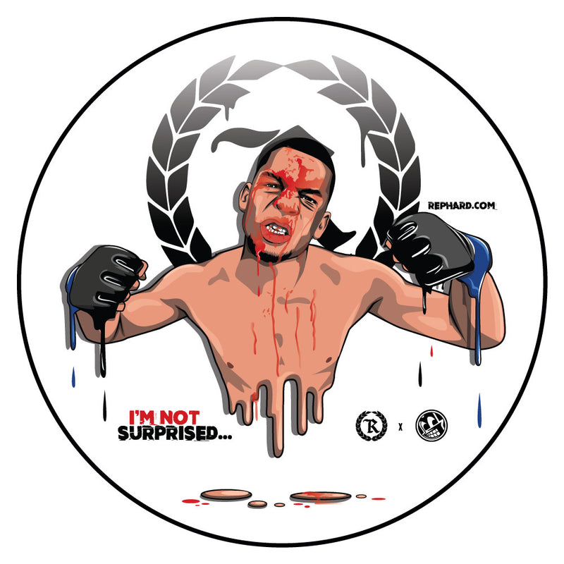 Nate Diaz Represent X Murked Drip Circle Sticker