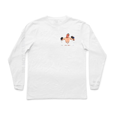 Nate Diaz Represent X Murked Drip Long Sleeve Tee [WHITE]