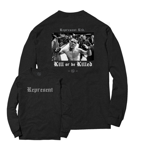 Nate Diaz Kill or be Killed Long Sleeve Tee [Charcoal]