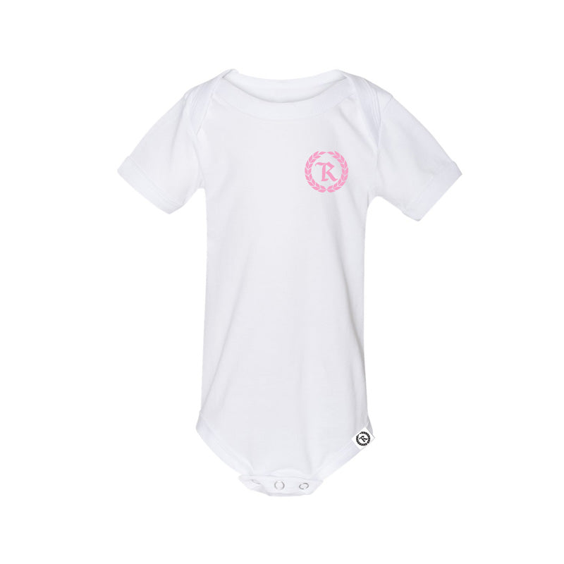 Classic Baby Gang Onesie [WHITE X PINK]
