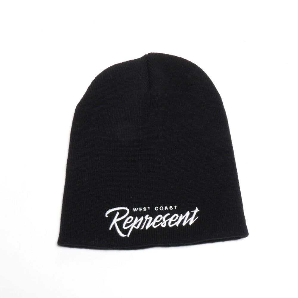 Tha West Coast Embroidered Beanie [BLACK]