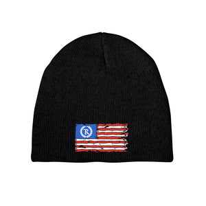 This is AMERICA Embroidered Beanie [BLACK] LIMITED EDITION
