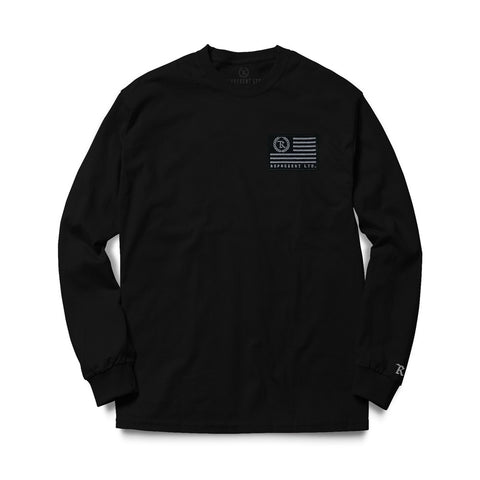 Flag Crew Sweatshirt (BLACK)