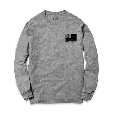 Flag Crew Sweatshirt (HEATHER GRAY)