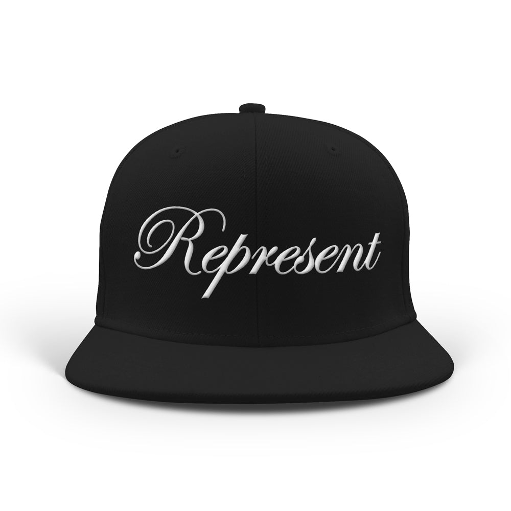 The Classic Script Embroidered Snapback [BLACK] LIMITED BATCH