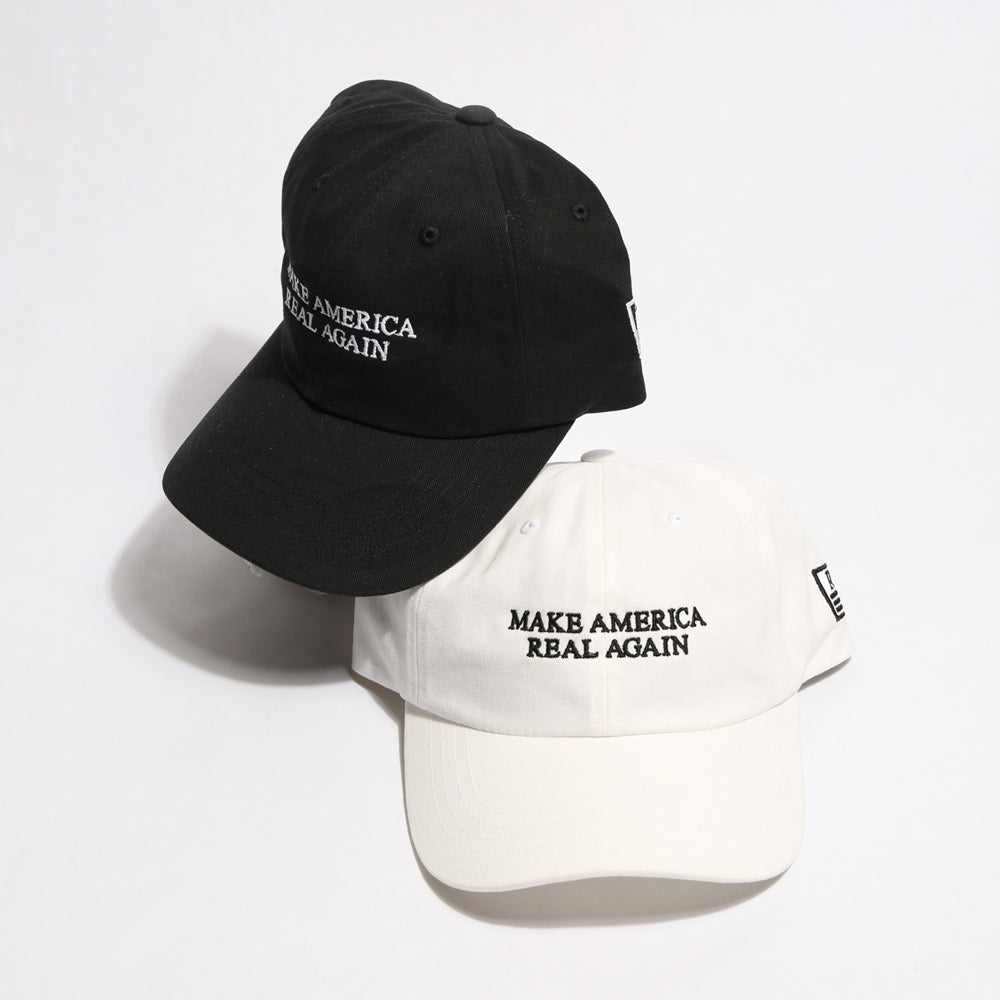 Make America REAL Again Dad Hat [WHITE]