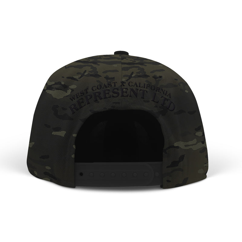 Real Ones Rep Flag Classic Snapback [MULTI CAMO BLACK]