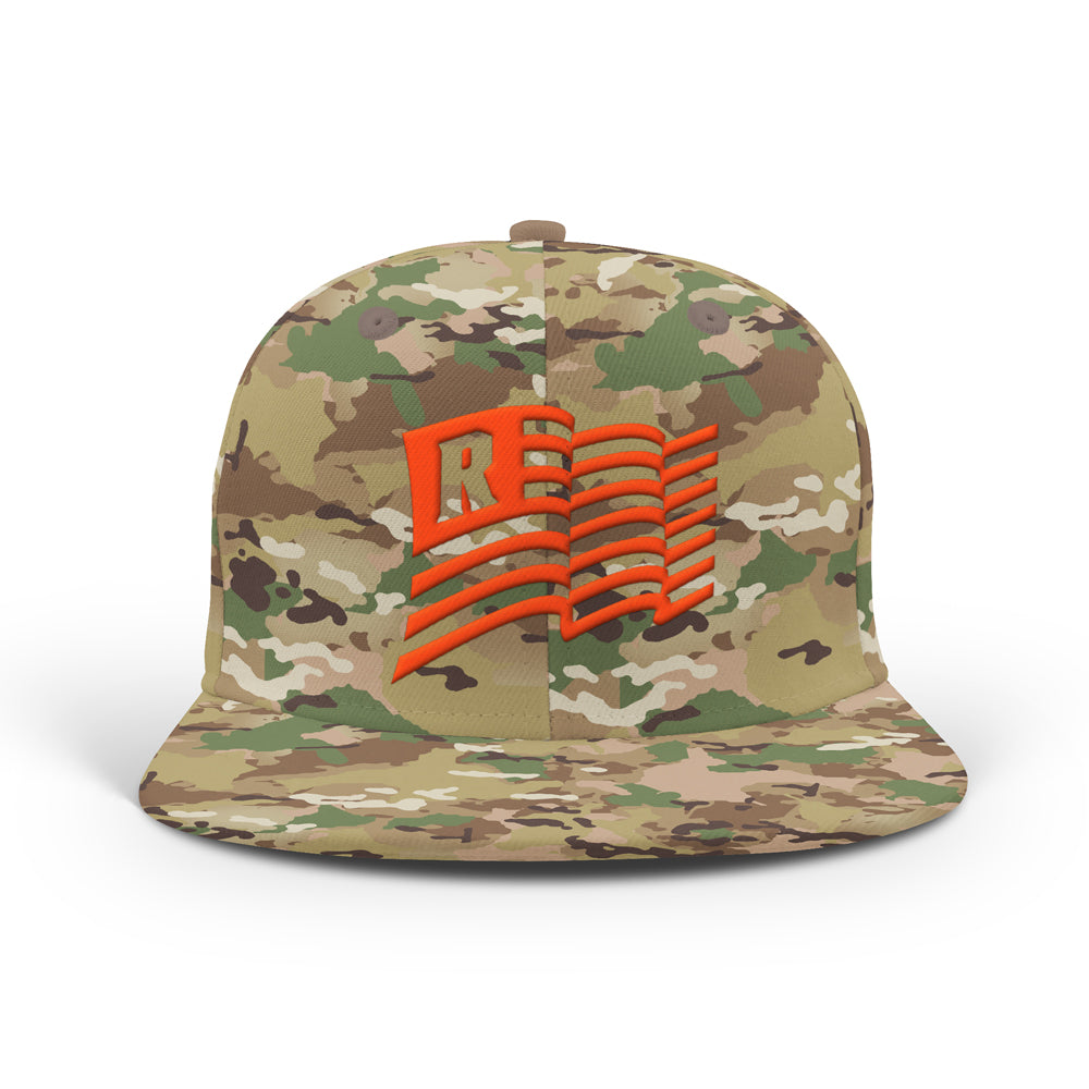 Real Ones Rep Flag Classic Snapback [MULTI CAMO GREEN]