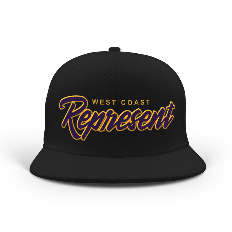 Tha West Coast Purple N Gold Classic Snapback [BLACK] LIMITED EDITION