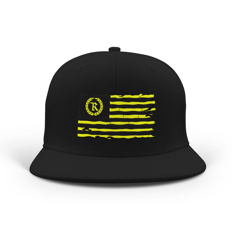 United We Stand Classic Snapback [BLACK W/ LIME GREEN]