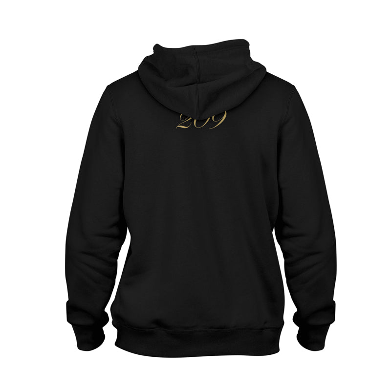 Classic Script Heavy Pullover Hoodie [BLACK X GOLD]
