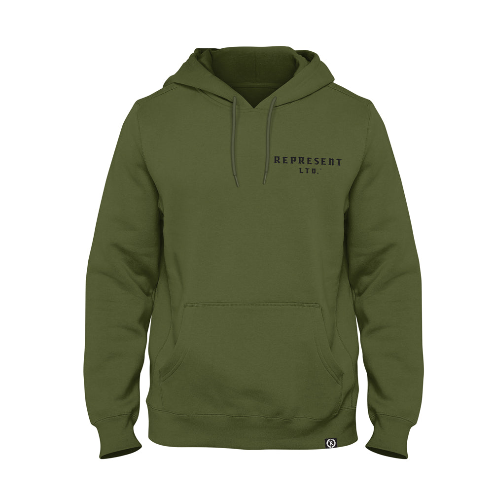 Ole Medieval Military Heavy Pullover Hoodie [ARMY]