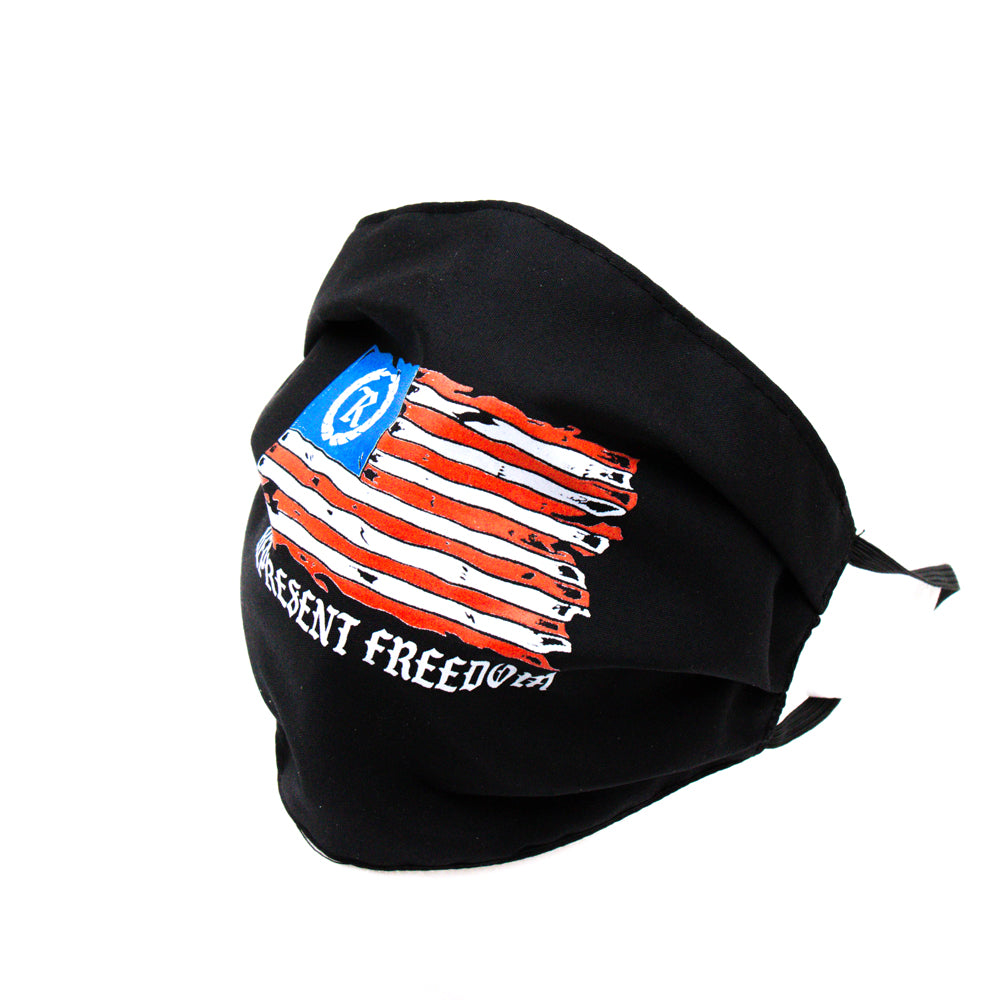 This is AMERICA Full Front Cloth Sanitary Mask [BLACK] LIMITED EDITION
