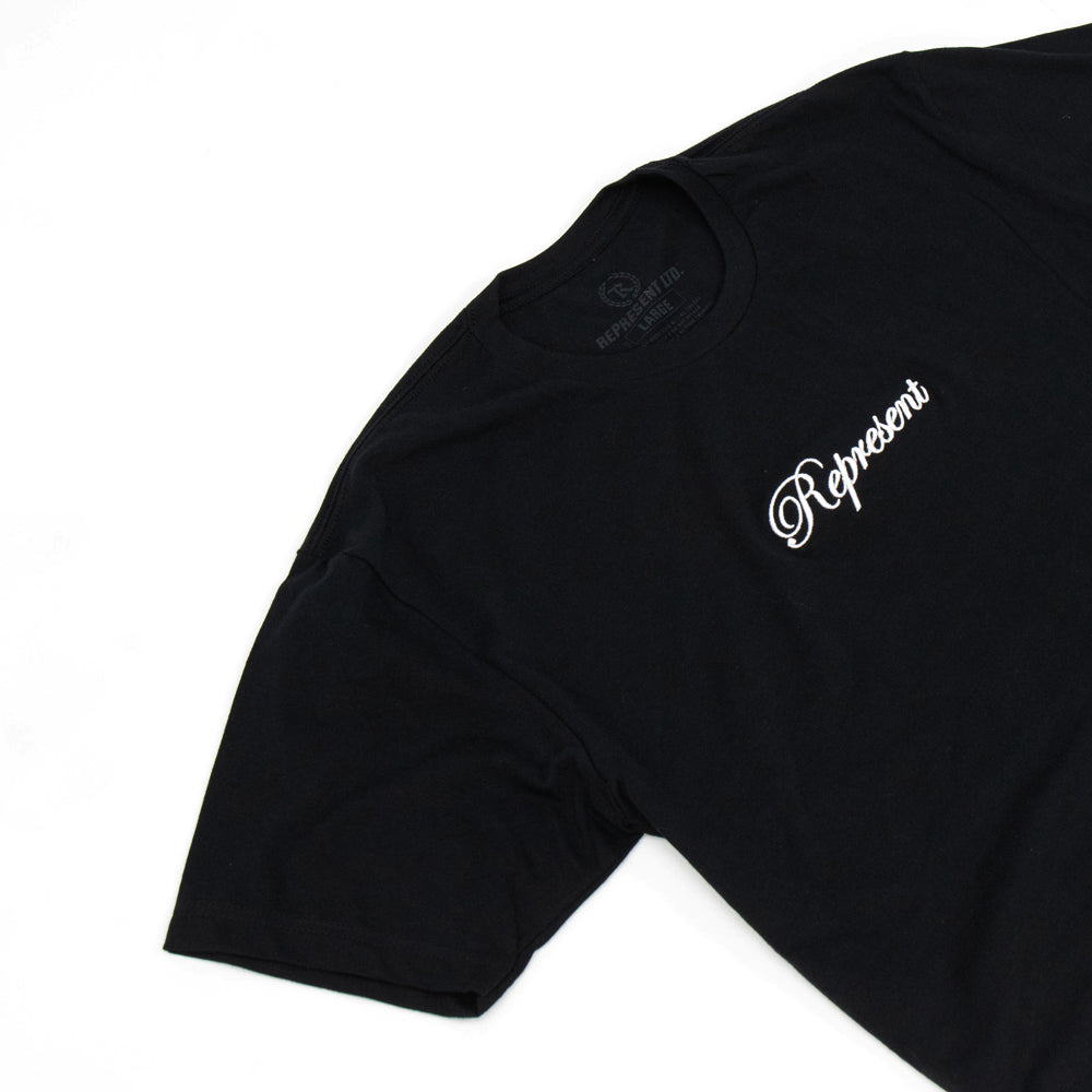 The Classic Script Embroidered Tee [BLACK X WHITE] LIMITED BATCH