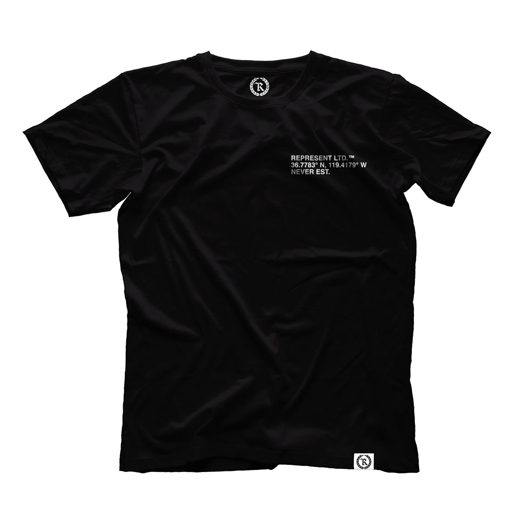 Lat X Long Tee [BLACK]