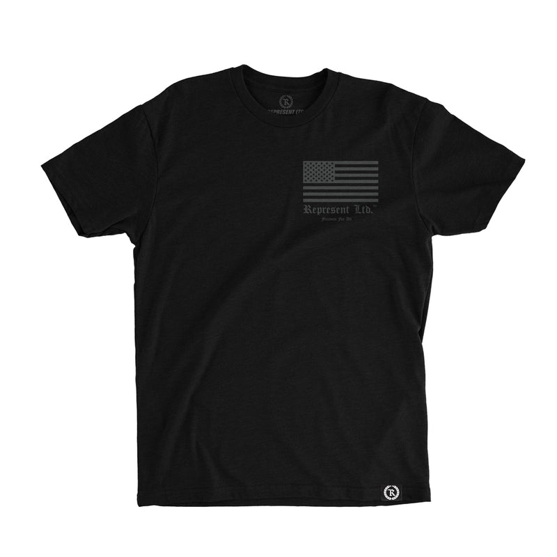 Freedom For All Flag Tee w/ HD Imprint [BLACK] COLLECTOR'S EDITION