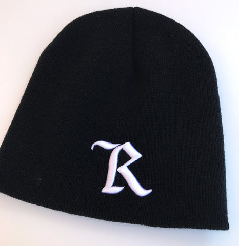 Represent Ltd. B&W Embroidered Beanie