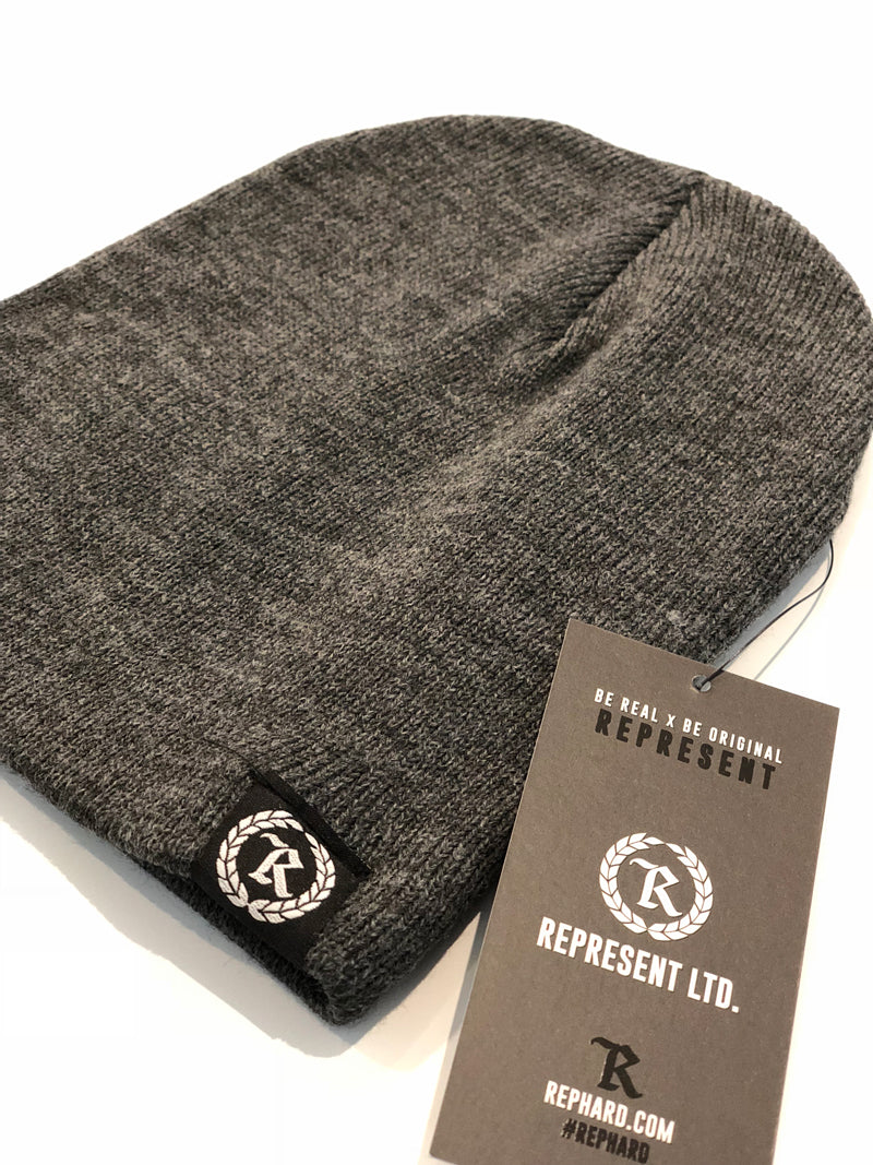 Represent Ltd. Woven Label Beanie [CHARCOAL]