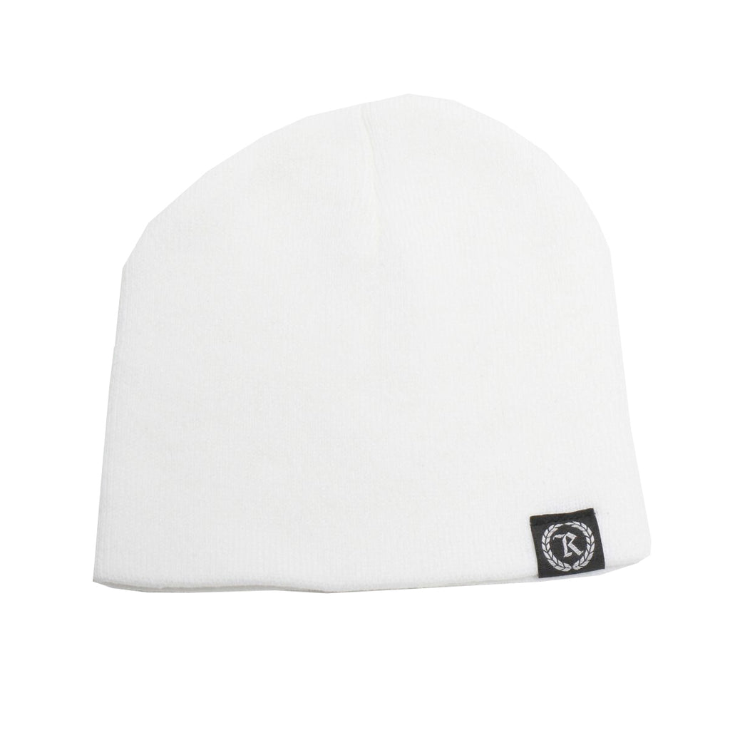 Represent Ltd. Woven Label Beanie [WHITE]