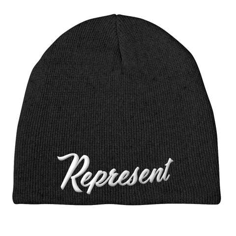 The Baseball Script Beanie