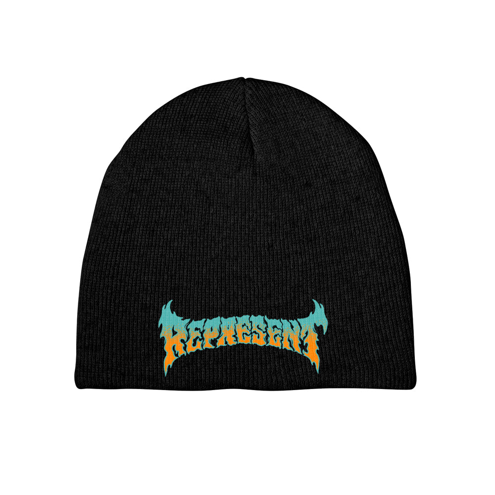 Psychedelic Ascension Embroidered Beanie [BLACK]