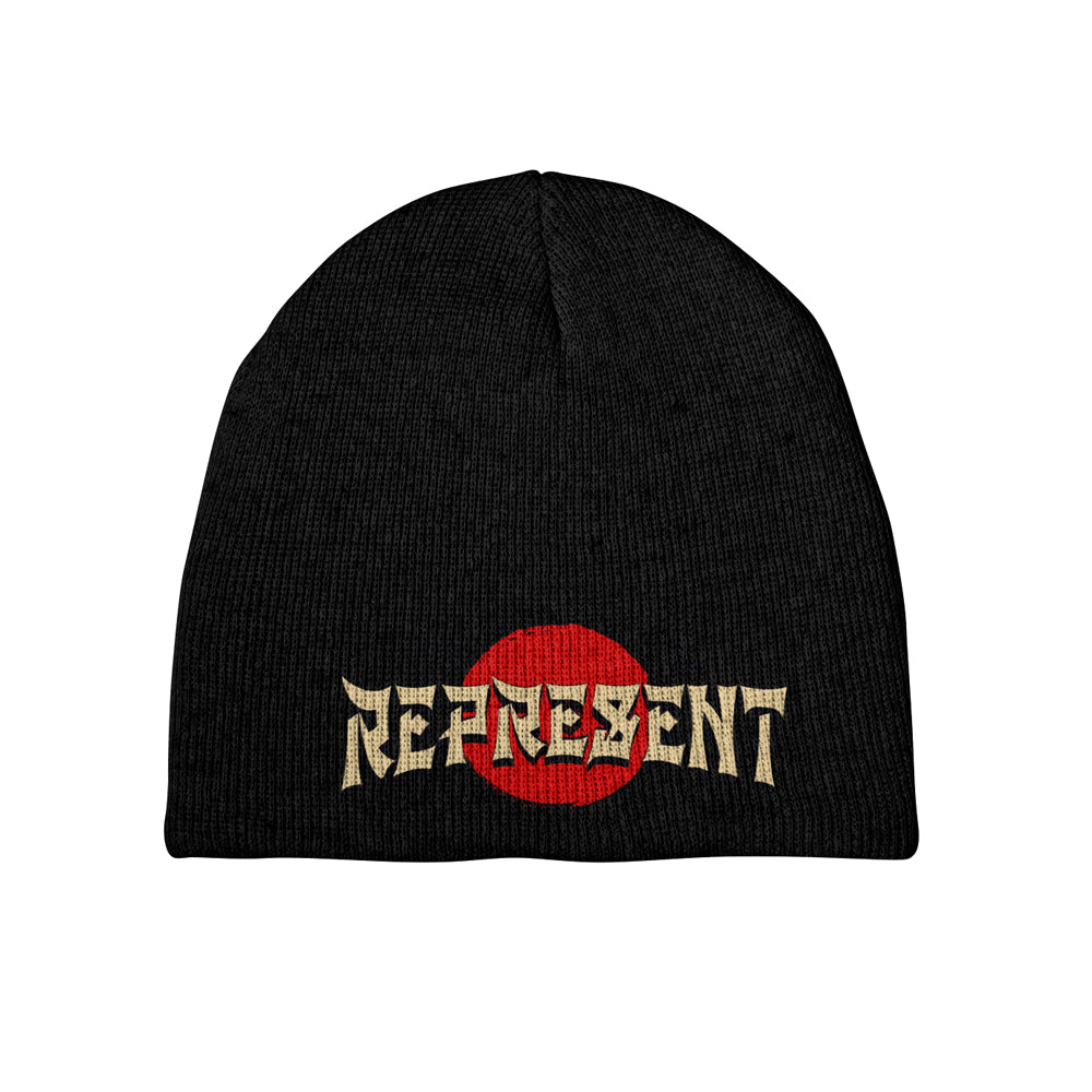 Enter The Dragon Embroidered Short Beanie [BLACK]