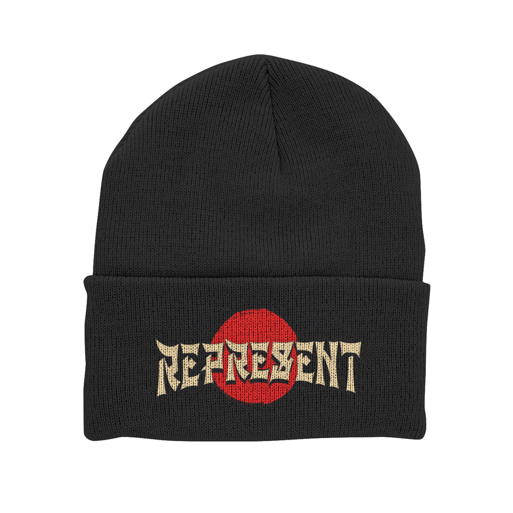 Enter The Dragon Embroidered Cuff Beanie [BLACK]