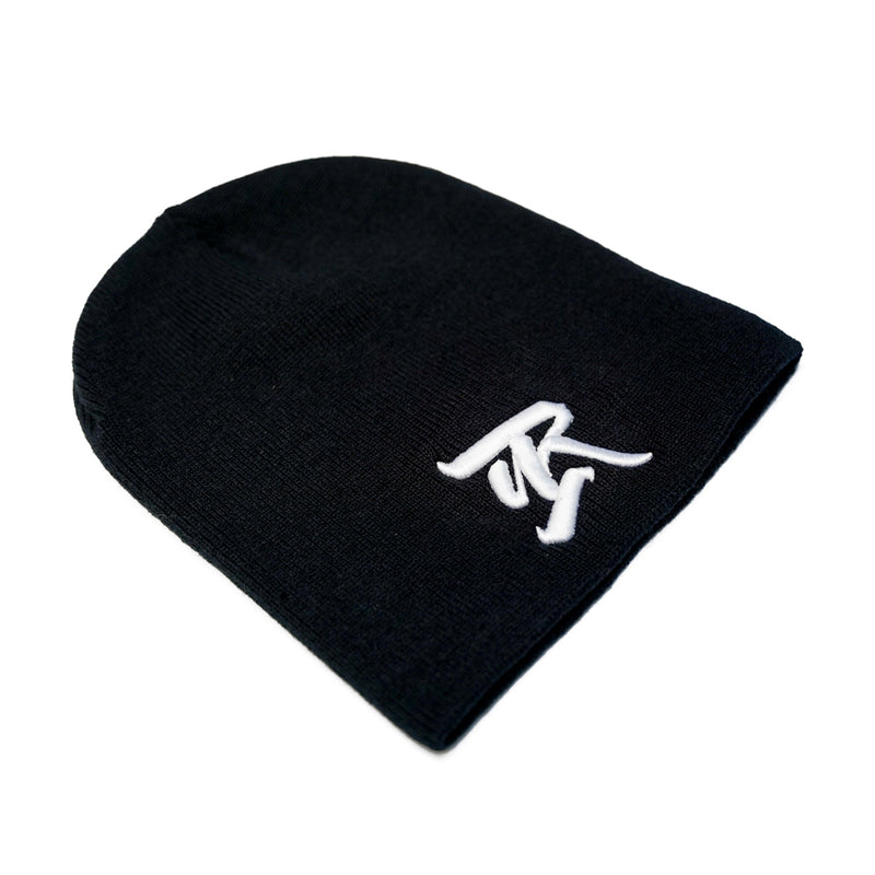 Abrakadabra 3D Embroidered Short Beanie [BLACK X WHITE]