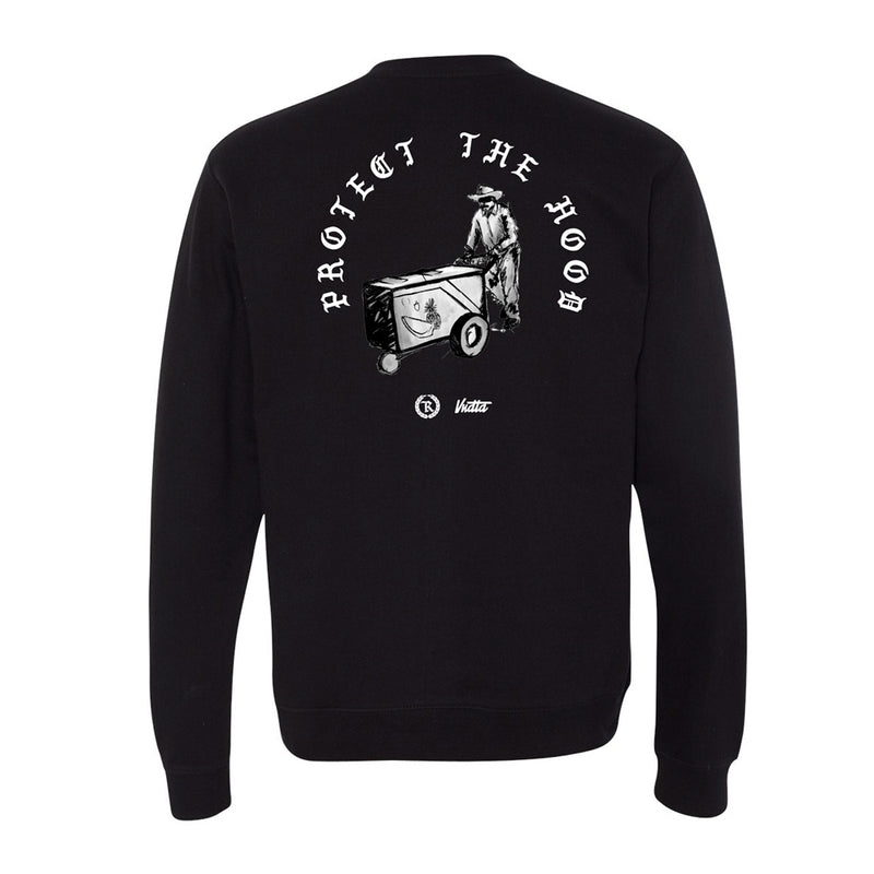 Protect The Hood VNDTA Collab Crewneck Sweatshirt [BLACK] LIMITED EDITION