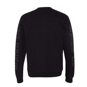 Always Represent PVC Rubber Silicone Patch Crewneck Sweatshirt [BLACK X BLACK] LIMITED EDITION