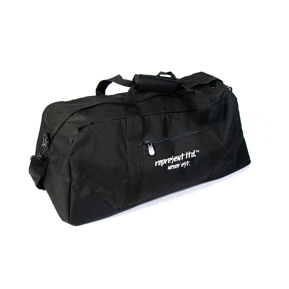 Never Est. Patched Duffel Bag [BLACK]